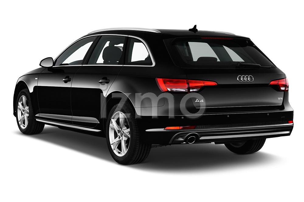Car pictures of rear three quarter view of a 2018 Audi A4 Avant Sport 5 Door Wagon angular rear