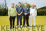 Manchester United Legend Clayton Blackmore, Arthur Albiston, , Ken Boyle and Stephen Grannon   at the McHales Golf Classic in aid of Our Ladys Children&rsquo;s Hospital Crumlin at Ballyheigue Golf Club on Friday<br /> <br /> Arthur Albiston, , Ken Boyle and Stephen Grannon