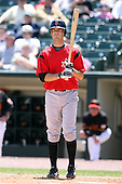 May 13, 2009:  Second Baseman Shelby Ford of the Indianapolis Indians, International League Class-AAA affiliate of the Pittsburgh Pirates, at bat during a game at Frontier Field in Rochester, FL.  Photo by:  Mike Janes/Four Seam Images