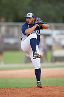 Freddie Martinez (31) during the WWBA World Championship at the Roger Dean Complex on October 12, 2019 in Jupiter, Florida.  Freddie Martinez attends Pro Baseball High School Academy in Santa Isabel, PR and is Uncommitted.  (Mike Janes/Four Seam Images)