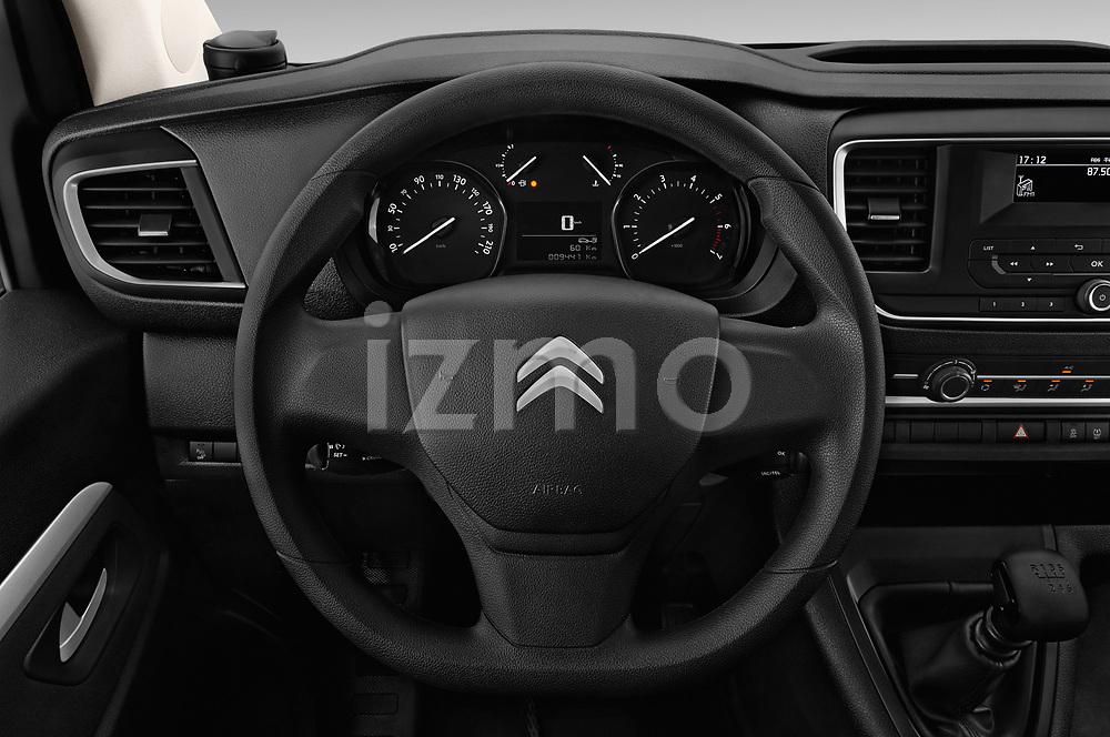Car pictures of steering wheel view of a 2017 Citroen Space Tourer Business 4 Door Passenger Van