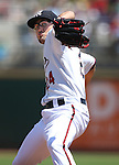 Reno Aces&rsquo; Braden Shipley pitches against the Salt Lake Bees at Greater Nevada Field in Reno, Nev., on Tuesday, June 7, 2016. <br />
