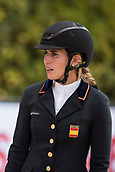 28th September 2017, Real Club de Polo de Barcelona, Barcelona, Spain; Longines FEI Nations Cup, Jumping Final; Laura ROQUET (ESP) checks the course before the first round of the Nations Cup