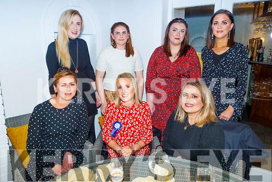 Helena Brennan from Kilflynn celebrating her 30th birthday in Bella Bia on Saturday<br /> Seated l to r: Sandra Sheehan, Helena Brennan and Aisling Weir.<br /> Back l to r: Emma Hayes, Maura Leen, Ann Marie Sheehan and Kathleen McKenna.