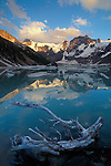 Lake of the Hanging Glacier, Purcell Mountains, British Columbia