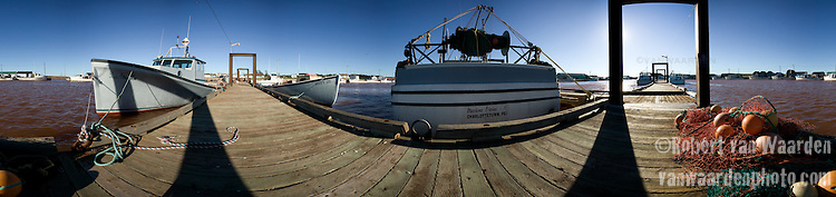 A panoramic image of a harbor in Prince Edward Island, Canada.