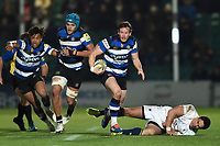 Chris Cook of Bath Rugby in possession. Aviva Premiership match, between Worcester Warriors and Bath Rugby on January 5, 2018 at Sixways Stadium in Worcester, England. Photo by: Patrick Khachfe / Onside Images