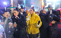 "NEW YORK - DECEMBER 31: Ken Jeong, Nicole Scherzinger, Maria Menounos, Marjorie Elaine Harvey, and Steve Harvey on ""FOX'S New Years Eve with Steve Harvey: Live From Times Square"" on December 31, 2018 in New York City. (Photo by Stephen Smith/Fox/PictureGroup)"