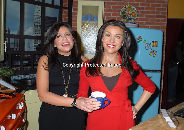 Rachael Ray and her Wax Figure..at the unveiling of the wax figure on February 21, 2007 ..at Madame Tussauds New York, ..Robin Platzer, Twin Images