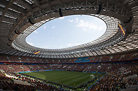 MOSCOW, RUSSIA - June 17, 2018: The view of Luzhniki Stadium before Germany vs. Mexico 2018 FIFA World Cup group stage match.