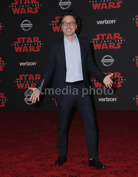 "09 December  2017 - Los Angeles, California - Zach Braff. Premiere Of Disney Pictures And Lucasfilm's ""Star Wars: The Last Jedi"" held at The Shrine Auditorium  in Los Angeles Photo Credit: Birdie Thompson/AdMedia"