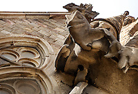 Chameleon, Nativity façade, La Sagrada Familia, Barcelona, Catalonia, Spain, Roman Catholic basilica, built by Antoni Gaudí (Reus 1852 ? Barcelona 1926) from 1883 to his death. Still incomplete. Picture by Manuel Cohen
