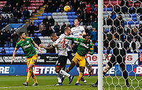 Bolton Wanderers' Callum Connolly heads across the box  <br /> <br /> Photographer Andrew Kearns/CameraSport<br /> <br /> The EFL Sky Bet Championship - Bolton Wanderers v Preston North End - Saturday 9th February 2019 - University of Bolton Stadium - Bolton<br /> <br /> World Copyright &copy; 2019 CameraSport. All rights reserved. 43 Linden Ave. Countesthorpe. Leicester. England. LE8 5PG - Tel: +44 (0) 116 277 4147 - admin@camerasport.com - www.camerasport.com