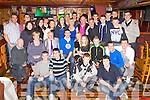 Shane O'Connor Castleisland seated centre who celebrated his 21st birthday with his family and friends in Con's Bar Castleisland on Saturday night