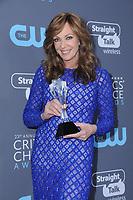 11 January 2018 - Santa Monica, California - Allison Janney. 23rd Annual Critics' Choice Awards held at Barker Hangar. <br /> CAP/ADM/BT<br /> &copy;BT/ADM/Capital Pictures