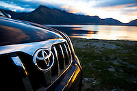 Toyota and Lake Wakatipu surrounding Queenstown, New Zealand