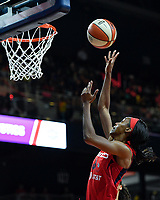 Washington, DC - August 25, 2019: Washington Mystics guard Shatori Walker-Kimbrough (32) goes up for a lay up during second half action of game between the New York Liberty and the Washington Mystics at the Entertainment and Sports Arena in Washington, DC. The Mystics defeated New York 101-72. (Photo by Phil Peters/Media Images International)