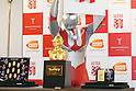 Japanese superhero Ultraman shows off his pure gold commemorative bust at the Ginza Tanaka jewelry store on January 25, 2017, Tokyo, Japan. To coincide with the 50th anniversary broadcast of the Ultraman television series, Ginza Tanaka has released a pure gold commemorative bust of the superhero measuring 30 cm height weighing 11kg. It is valued at 110,000,000 JPY (approximately 1,000,000 USD.) The store is also selling a set of 24k gold coins and a commemorative plate until January 31. The Japanese TV series was first aired in 1966. (Photo by Rodrigo Reyes Marin/AFLO)