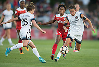 Boyds, MD. - Saturday, June 24 2017:  Francisca Ordega, Emily Menges during a regular season National Women's Soccer League (NWSL) match between the Washington Spirit and the Portland Thorns FC at Maureen Hendricks Field, Maryland SoccerPlex. The Washington Spirit defeated Portland Thorns FC 1-0.