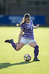 Taylor Romano (4) of the High Point Panthers takes a free kick during first half action against the Duke Blue Devils at Koskinen Stadium on September 11, 2016 in Durham, North Carolina.  The Blue Devils defeated the Panthers 4-1.   (Brian Westerholt/Sports On Film)