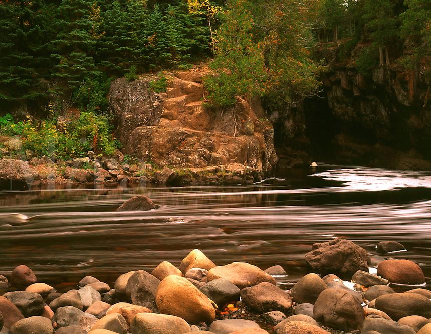 Temperance River, north shore of Lake Superior, Temperance River State Park, MN. Temperance River State Park, Minnesota.