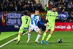 Rodrigo Tarin of CD Leganes and Jaime Mata of Getafe FC during La Liga match between CD Leganes and Getafe CF at Butarque Stadium in Leganes, Spain. January 17, 2020. (ALTERPHOTOS/A. Perez Meca)