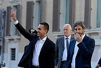 Roma, 11 Ottobre 2017<br /> Roberto Fico e Luigi Di Maio.<br /> Movimento 5 Stelle in Piazza Montecitori contro la fiducia al Governo per la Legge Elettorale Rosatellum Bis