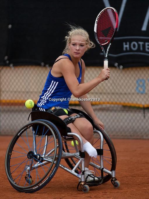 10-08-13, Netherlands, Rotterdam,  TV Victoria, Tennis, NJK 2013, National Junior Tennis Championships 2013,  Diede de Groot winner wheelchair <br /> <br /> Photo: Henk Koster