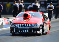 Jun. 15, 2012; Bristol, TN, USA: NHRA pro stock driver V. Gaines during qualifying for the Thunder Valley Nationals at Bristol Dragway. Mandatory Credit: Mark J. Rebilas-