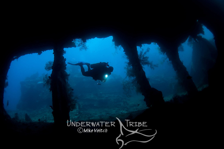 The wreck of the USS Liberty, Tulamben, Bali, Indonesia, Pacific Ocean