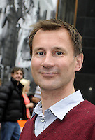 London - Jeremy Hunt MP attends Piccadilly Circus Circus event at Piccadilly Circus, London -  September 2nd 2012..Photo by Bob Kent