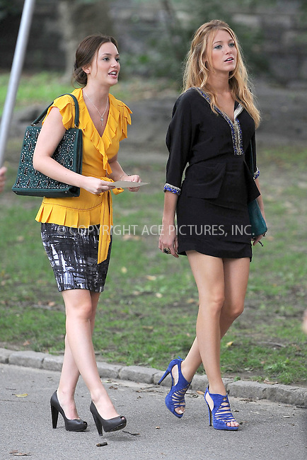 WWW.ACEPIXS.COM . . . . . .July 27 2009, New York City....Actresses Leighton Meester and   Blake Lively on the set of Gossip Girl July 27, 2009 in New York City....Please byline: KRISTIN CALLAHAN - ACEPIXS.COM.. . . . . . ..Ace Pictures, Inc: ..tel: (212) 243 8787 or (646) 769 0430..e-mail: info@acepixs.com..web: http://www.acepixs.com .