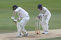 Peter Siddle of Essex is bowled out by Keshav Maharaj during Essex CCC vs Yorkshire CCC, Specsavers County Championship Division 1 Cricket at The Cloudfm County Ground on 8th July 2019