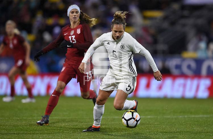 Columbus, Ohio - Thursday March 01, 2018: Babett Peter during a 2018 SheBelieves Cup match between the women's national teams of the United States (USA) and Germany (GER) at MAPFRE Stadium.
