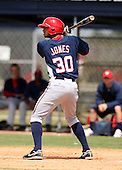 March 22, 2010:  Marcus Jones (30) of the Washington Nationals organization during Spring Training at the Carl Barger Training Complex in Melbourne, FL.  Photo By Mike Janes/Four Seam Images