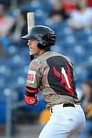 Quad Cities River Bandits shortstop Carlos Correa #1 on deck during a game against the Wisconsin Timber Rattlers on May 24, 2013 at Modern Woodmen Park in Davenport, Iowa.  Quad Cities defeated Wisconsin 4-3  (Mike Janes/Four Seam Images)