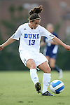 07 September 2007: Duke's Lorraine Quinn. The Duke University Blue Devils defeated the Yale University Bulldogs 1-0 at Fetzer Field in Chapel Hill, North Carolina in an NCAA Division I Women's Soccer game, and part of the annual Nike Carolina Classic tournament.