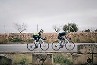 Abi Van Twisk (UK/Trek-Segafredo) & Anna Plichta (POL/Trek-Segafredo)<br /> <br /> Team Trek-Segafredo women's team<br /> training camp<br /> Mallorca, january 2019<br /> <br /> ©kramon