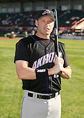 June 30th 2007:  Jordan Brown of the Akron Aeros poses for a photo in the outfield before a game vs the Erie Seawolves in Eastern League baseball action.  Photo copyright Mike Janes Photography 2007.