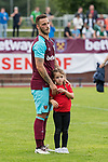 29.07.2017, Heinz-Dettmer-Stadion, Lohne, GER, FSP, SV Werder Bremen vs West Ham United<br /> <br /> im Bild<br /> Marko Arnautovic (West Ham #18) mit Tochter Emilia auf dem Arm nach dem Spiel / Marko Arnautovic (West Ham #18) with his daughter Emilia Arnautovic, <br /> <br /> Foto &copy; nordphoto / Ewert