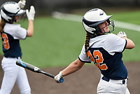 NWA Democrat-Gazette/CHARLIE KAIJO Rogers Heritage High School Sydney Price (22) prepares to bat during the 6A State Softball Tournament, Thursday, May 9, 2019 at Tiger Athletic Complex at Bentonville High School in Bentonville. Rogers Heritage High School lost to Northside High School 8-6