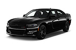 2018 Dodge Charger R/T 4 Door Sedan angular front stock photos of front three quarter view