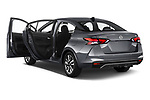 Car images close up view of a 2020 Nissan Versa SV 4 Door Sedan doors