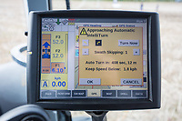 GPS screen in a New Holland tractor showing intelligent turning <br /> Picture Tim Scrivener 07850 303986<br /> &hellip;.covering agriculture in the UK&hellip;.