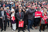 Tulip Siddiq supporters at the launch of her campaign to retain Hampstead and Kilburn, the tenth most marginal Labour parliamentary seat in the UK.  Swiss Cottage, London.