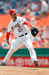 30 June 2005: Esteban Loaiza, starting pitcher for the Washington Nationals, on the mound during a game against the Pittsburgh Pirates. The Nationals defeated the Pirates 7-5 to sweep the 3-game series at RFK Stadium in Washington, DC.  Mandatory Photo Credit: Ed Wolfstein