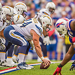 21 September 2014: San Diego Chargers center Rich Ohrnberger gets ready to snap against the Buffalo Bills at Ralph Wilson Stadium in Orchard Park, NY. The Chargers defeated the Bills 22-10 in AFC play. Mandatory Credit: Ed Wolfstein Photo *** RAW (NEF) Image File Available ***