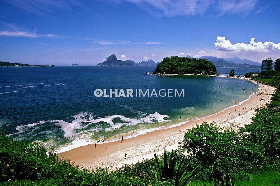 Praia de Piratininga em Niterói. Rio de Janeiro. 1999. Foto de Marcos Issa.