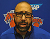 New York Knicks Head Coach David Fizdale speaks with the media during practice at Madison Square Garden Training Center in Greenburgh, NY on Friday, Sept. 28, 2018.