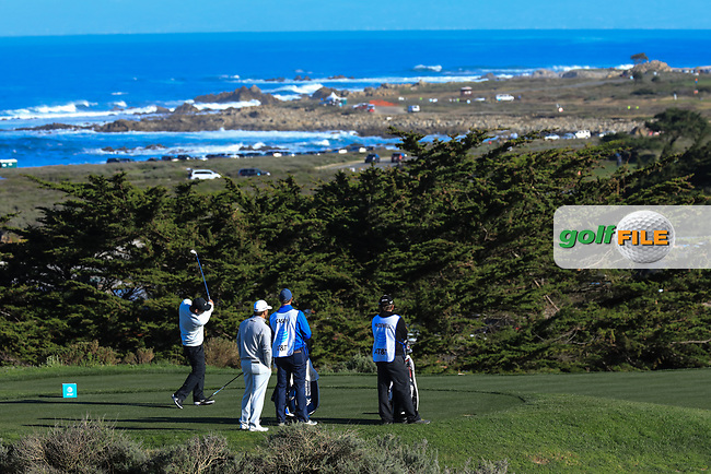 Paul Casey (ENG) in action at Spyglass Hill Golf Course during the third round of the AT&amp;T Pro-Am, Pebble Beach Golf Links, Monterey, USA. 09/02/2019<br /> Picture: Golffile | Phil Inglis<br /> <br /> <br /> All photo usage must carry mandatory copyright credit (&copy; Golffile | Phil Inglis)